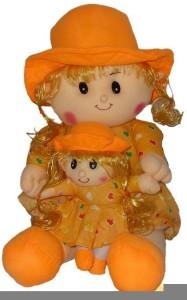 FunnyLand Pari Doll Orange 30cm with Sister 15cm  - 30 cm