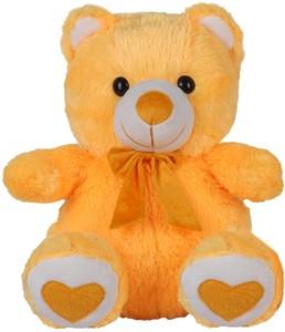 A M Enterprises Cute Yellow Teddy Bear  - 20 cm