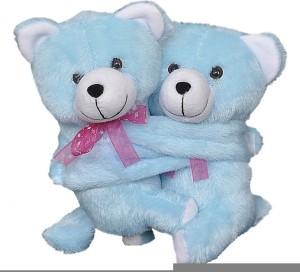 FunnyLand Teddy Bear Twins Sky Blue 18cm  - 18 cm