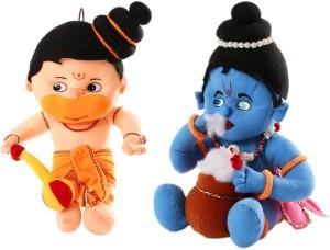 Cally Soft Toys Hanuman Ji & Krishna Ji  - 30 cm