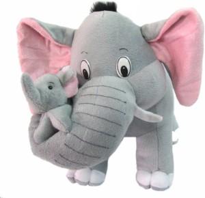 OM MOTHER & BABY ELEPHANT  - 45 cm