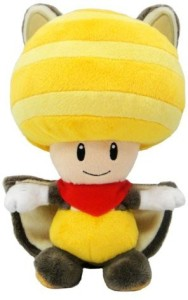 Sanei Super Mario Plush Series Plush Doll 8Inch Squirrel