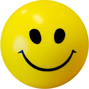 Abee Smiley Stress and Tension Reliever Soft Ball  - 4 inch