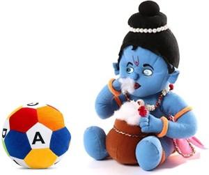 Cally Soft Toys Krishna Ji with ABCD Ball  - 30 cm