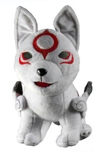 Okami Den Deluxe Chibiterasu Wolf Dog Plush Doll