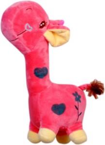 Bubble Hut Giraffe Pink Stuff Toy  - 24 cm