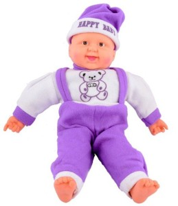 Deals India Musical Happy Baby Boy Laughing  - 16 inch