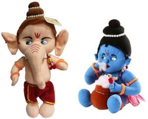 Saugat Traders Ganesha & Makhan Chor  - 18 inch