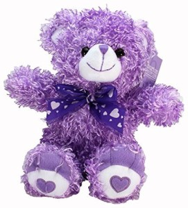 Burton & Burton Plush Curly Fur Bear (Lavender Color)