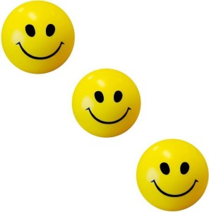 Kanchan Toys Smiley Ball (Pack Of Three)  - 5 cm