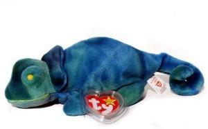 Ty Beanie Babies Iggy The Dye Iguana Rainbow Tags
