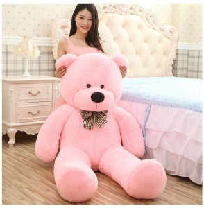 zany toys teddy bear 5ft pink soft toy  - 5 inch