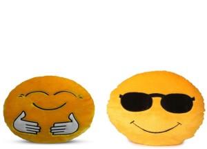 Fabelhaft Cool Dude & Hugging Smiley Cushion (Pack of 2) - 35 Cm  - 4 cm