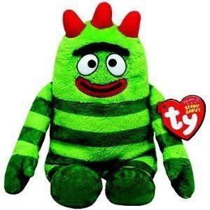Yo Gabba Gabba Ty Plush Beanie Ba Doll Green Brobee 7 In Cute Gift