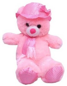Cuddles Collections Cap teddy Pink  - 75 cm