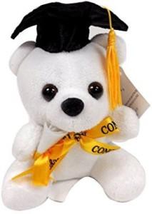 CHARMING TOY Graduation White Tatty Teddy Bear 6
