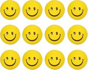 Kanchan Toys Smiley Balls (12Pics)  - 4 cm