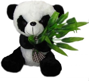 Tickles Panda with leaves  - 10 inch