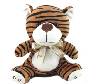 Tickles Baby Tiger With Bow  - 23 cm