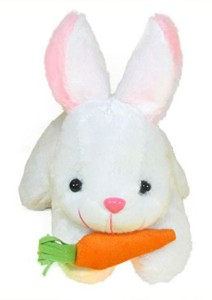 Creative India Exports Rabbit With Carrot Stuffed Soft Plush Toy  - 26 cm