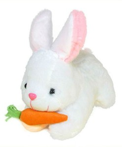 Creative India Exports Rabbit With Carrot Stuffed Soft Plush Toy - 26  cmWhite
