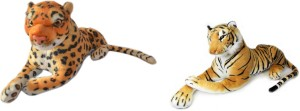 MGPLifestyle Combo of Tiger & Leopard Soft Toy (32cm)  - 9 cm