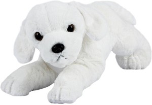 ToynJoy Small Lying White Dog Puppy Cute Soft & Plush toy as Special Gift  - 30 cm