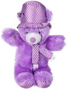 Cuddles Cap teddy Purple  - 35 cm