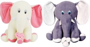 Alexus Pink Grey Elephant  - 32 cm
