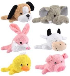 Fuzzy Friends All Six Cute And Cuddly Plush Laying Big Head Animals6