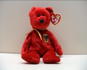 Ty Beanie Ba Graf Von Rot The Bear (Germany Exclusive)