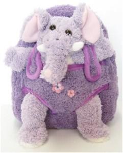 J Elephant Plush Backpack