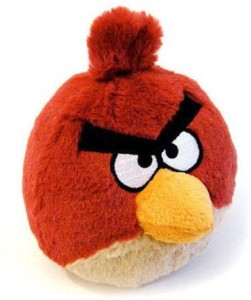 CW&T Angry Birds 5 Inch Mini Plush Red Bird With Sound 90837
