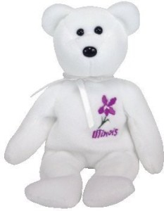 Ty Beanie Ba Illinois Violet The Bear (Show Exclusive)