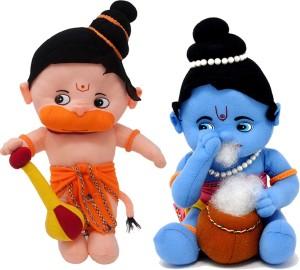 Fun Zoo Lord Hanuman & Krishna Hindu Idol Combo Fun Zoo Soft Plush Toy  - 35 cm