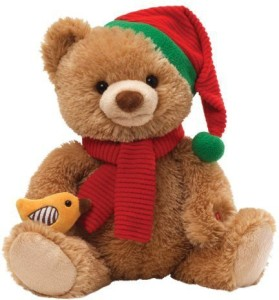 Gund Caroling Bear Animated Musical Stuffed Animal  - 24 inch