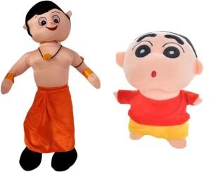 Poonam Big Size Chota Bheem Kids Plush Soft Toy 50cm (20inch) With Shinchan  - 50 cm