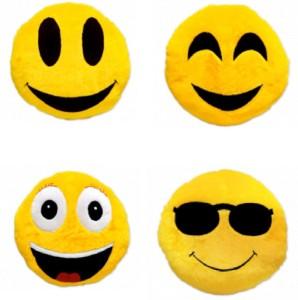 Yash Enterprises Set Of 4 Smiley Decorative Cushion  - 33