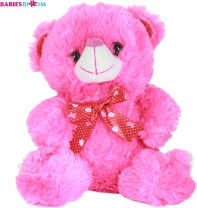 Babies Bloom Plush Stuffed Pink Teddy Bear With A Beautiful Bow  - 20 cm