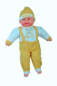 Cuddles Collections Musical Happy Baby Boy Laughing 50 Yellow  - 50 cm