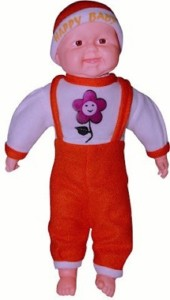 Cuddles Collections Musical Happy Baby Boy Laughing 50 Red  - 50 cm