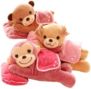 ToynJoy Small Lying Pillow Animal Cute Soft & Plush toy as Special Gift  - 30 cm