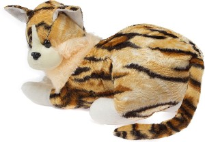 Glitters Tiger Print Cat  - 18 cm