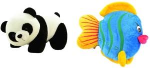 Deals India Panda and Multicolor fish combo  - 10 cm