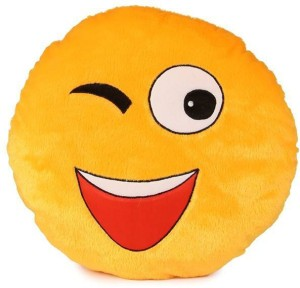 MKJ TRADERS wynk SMILEY CUSHION -35CM for Home Decor,Gifting purpose,Kids Teens and Girls gift  - 35 cm