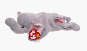 Ty Beanie Ba Righ The Elephant (Original Release 4Th Gen Hang