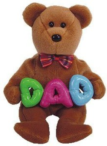 Ty Beanie Babies Dad The Bear ( Store Exclusive)