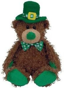 Ty Beanie Babies Pat O' Lucky Irish Bear ( Store Exclusive)