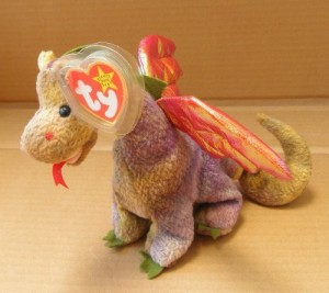 71cd0bdea4a Smartbuy Ty Beanie Babies Scorch The Dragon Animal Plush 10 Inches ...
