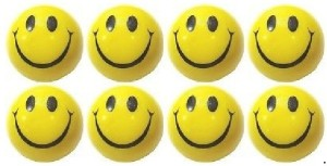 Kosh Smiley Face Squeeze Stress Balls 3 inch (Pack Of 8)  - 3 inch